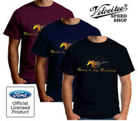 Velocitee Mens T-Shirt Official Licensed Ford Mustang Pony Grille Logo A14971