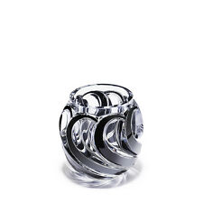 Lalique Crystal Flamme Vase Clear Black Enamel Numbered Edition BNIB 10369100