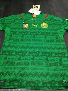Mens Puma Cameroon Home Shirt Size Medium Brand New BNWT