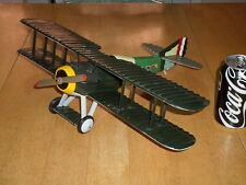 WW#1, USA FIGHTER BIPLANE, HANDMADE SOLID WOOD TOY , Scale 1/12, Vintage 1980's