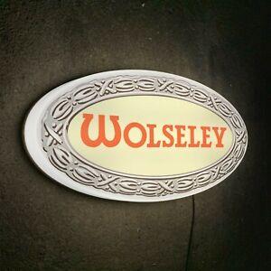 WOLSELEY LED WALL LIGHT UP GARAGE SIGN PETROL GASOLINE CAR VINTAGE LOGO HORNET