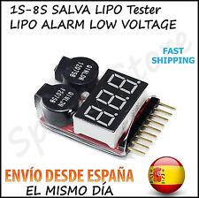 SALVA LIPO Alarma Bateria Tester 1S-8S Battery Safe Lipo ALARM BUZZER SALVALIPO