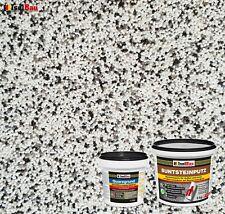 Buntsteinputz SET Mosaikputz BP10 (weiss, grau, schwarz) 5kg + Quarzgrund 1,5 kg