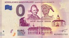 BILLET 0 EURO SOUVENIR TOURISTIQUE NORDLICHES HARZVORLAND 2019-1