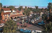 Palm Springs California~Plaza Shopping Center~1950s El Camino~Postcard