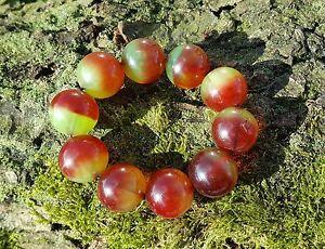 Red & Green Chunky Acrylic Bead Bangle  Glam/Retro/Vintage Style