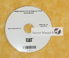 SEBP4186 Caterpillar C15 On-Highway Truck Engine Parts Manual Book CD.
