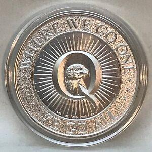 GOD BLESS AMERICA Trump Q 1 oz 999 Pure Silver Eagle Very Limited USA Patriot