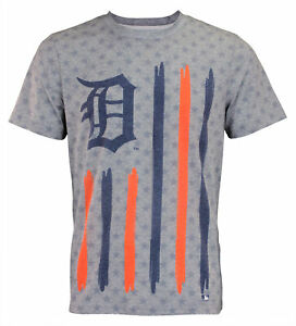 Forever Collectibles MLB Men's Detroit Tigers Big Logo Flag Tee