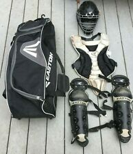 Easton Youth Catchers Gear Ages 9-12 Shin Guards, Chest, Helmet, Catchers Bag