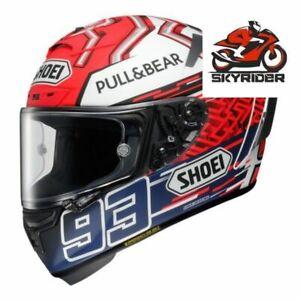 X-14 Marc Marquez 93 Motorcycle Full Face Helmet blue ant anti-fog visor Riding