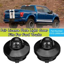 For Ford Trucks  Pair License Plate Light Lamps Cover F37Z13550AA 68163 I W
