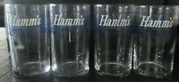set of 4 Vintage Hamms beer glasses Olympia brewing company sampling size 7 oz