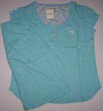 NWT Encore Karen Neuburger AQUA BLUE WHITE POLKA DOT Pajama BERMUDA Shorts  Set M 220a06c9c
