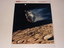 Apollo 13 Astronaut Fred Haise Hand-Signed NASA Kodak Photo CSM Over Moon