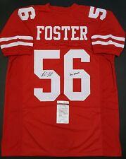 REUBEN FOSTER Autographed San Francisco 49ers Custom Jersey XL.WITNESSED JSA