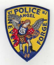 "91101 ArtAid Police Angel Never Forget New York New Jersey Patch (5"")"