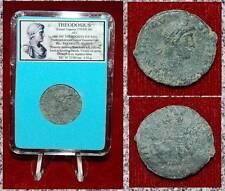 New ListingAncient Roman Empire Coin Of Theodosius Emperor Offering Hand To Kneeling Female