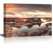 "Canvas Prints Wall Art - Landscape Lake Powell View from Alstrom Point-32"" x 48"""
