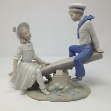 Lladro See Saw 1255 Figurine Matte Finish Spain
