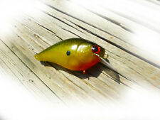 CRANKBAIT CUSTOM PAINTED LUCKYCRAFT STYLE GREEN APPLE SQUAREBILL BY BIGBASSBAITS