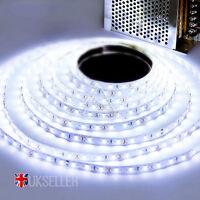 Bright 5M 5050 Day White 300 LED Light Flexible Strip Lighting 12V DIY Party UK