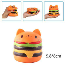 Squishy Cat Head Burger Food Simulation Toy Soft Slow Rebound Bounce Props Spot