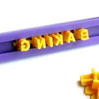 Alphabet Letter & Number Fondant Icing Cutter Cake Mold Decorating Mould IN9Z