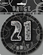 Glitz Birthday Black Badge 21ST Party Supply Decoration Costume Accessories