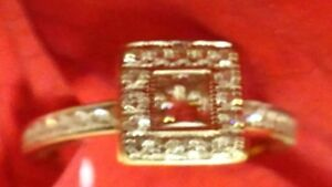 new 18ct yellow white gold round square shape halo diamond cluster ring