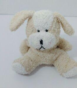 It's Greek Me ASI Tan beige white terry cloth plush puppy dog small mini beanbag