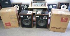 JBL L65 SPEAKERS OWNERS MANUAL ORIGINAL BOXES CONSECUTIVE SERIAL NUMBER