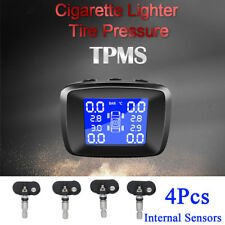 Car TPMS Receiver Tire Pressure Monitor System Safty Alarm w/ 4 Internal Sensors