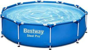 Bestway Steel Pro Frame Pool rund 305x76cm Stahlrahmenpool blau 56677