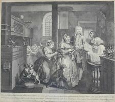 William Hogarth (English 1697- 1764) Engraving A Rake's Progress 1735, No 5