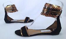 NEW! Jimmy-Choo-'Kimro' Fringe Ankle Cuff Sandal- Size 11 US/ 41 EU-$995- (P7)