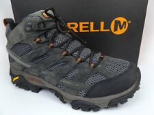 Men's Merrell Moab 2 Mid WP Waterproof Hiking Boots SZ 10.0 M, Beluga,  16417