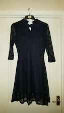 navy lace dress size 10 party/christening