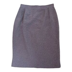 JACQUES VERT Skirt Size 14 30 W Fits 10 12 Purple Occasion Smart Office Workwear