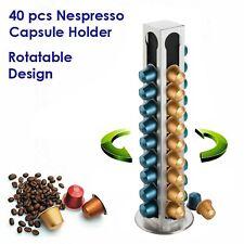 40pcs Coffee Capsule Holder, Nespresso Caps Pods Dispenser Rack Stainless Steel