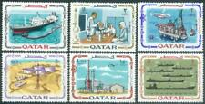Qatar 1969 ** Mi.385/90 Erdöl Oil Industrie Industry Tanker Labor Laboratory