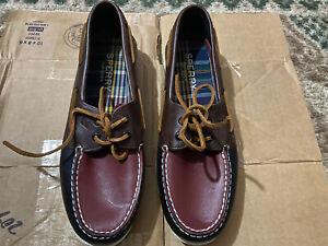 Men's Sperry Top Sider Authentic Original Tri-Tone Boat Shoes Brown Black Sz 10