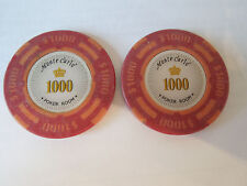 2x Poker Chip Golf Ball Markers - Monte Carlo 14g.  $1000