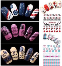 Nail Art Water Decals Transfer Stickers-Decorazione Unghie effetto JEANS-PIZZO