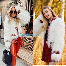 Blogger Jacke Designer Giambattista Valli H&M S 36 38 Fell Faux Fur Pelz weiß