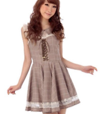 Liz Lisa Rare plaid Dress hime lolita gyaru style 109 harajuku