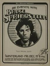 BRUCE SPRINGSTEEN ROCK CONCERT POSTER RANDY TUTEN SIGNED WINTERLAND BILL GRAHAM