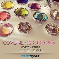COMBINE 144 • Large Jeweled Snaps No Sew Button Poppas Adult Clothing Fashion