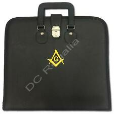 MASONIC APRON CASE WITH EMBROIDERER  SQUIRE COMPASS   (FAUX LEATHER  )