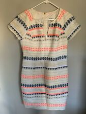 Trina Turk Dress Short Sleeve Mid Thigh Multi Color. Perfect For Spring Size 8